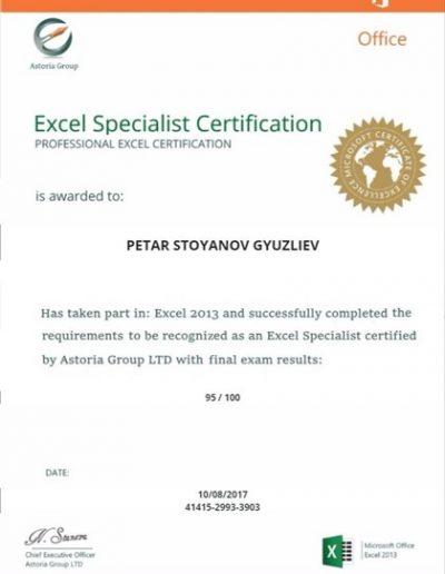 Excel Specialist