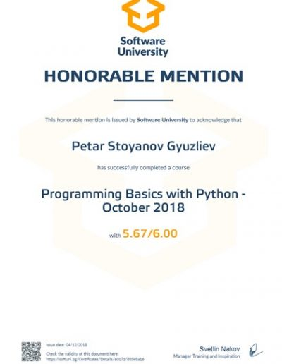 Programming Basics with Python